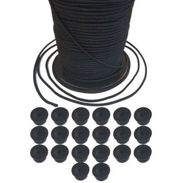 200 x TRAILER BUTTON CLEATS with 100 metres 6mm BUNGEE ELASTIC CORD truck boat